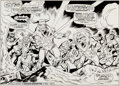 Original Comic Art:Panel Pages, Bob Brown and Don Heck The Avengers #120 Page 16 and 17Original Art (Marvel, 1974)....