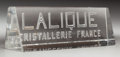 Art Glass:Lalique, A Lalique Clear Glass Trade Sign. 5 inches long (12.7 cm). ...