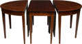 Furniture : American, A Three-Part Federal-Style Mahogany Banquet Table with Two Leaves, circa 1900. 30 h x 159-1/4 w x 49-1/2 inches deep (76.2 x... (Total: 5 Items)