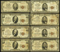 National Bank Notes:ZZZ, Series 1929 Type 1 Nationals.. ... (Total: 8 notes)