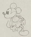 Animation Art:Production Drawing, Building a Building Mickey Mouse Production Drawing (WaltDisney, 1933). ...