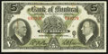 Canadian Currency: , Montreal, PQ- The Bank of Montreal $5 January 2, 1935 Ch. #505-60-02. ...