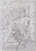 Original Comic Art:Covers, Brian Bolland Robin #5 Cover Preliminary Sketch Original Art(DC, 1991)....