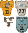 Miscellaneous Collectibles:General, 1965-69 Indianapolis 500 Cards and Pit Badges Lot of 4. ...