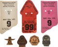 Miscellaneous Collectibles:General, 1970-74 Indianapolis 500 Cards and Pit Badges Lot of 4. ...