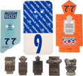 Miscellaneous Collectibles:General, 1985-89 Indianapolis 500 Cards and Pit Badges Lot of 5. ...