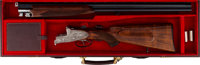 Cased Franz Sodia Best Sidelock Over and Under Shotgun