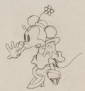 Animation Art:Production Drawing, Minnie Mouse Animation Drawing (Walt Disney, c. 1930s)....