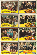 "Movie Posters:Comedy, Too Many Girls & Others Lot (RKO, 1940). Lobby Cards (7) (11"" X 14"") & Trimmed Lobby Card (10.5"" X 13.25""). Comedy.. ... (Total: 8 Items)"