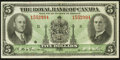 Canadian Currency: , Montreal, PQ- The Royal Bank of Canada $5 Jan. 2, 1935 Ch. #630-18-02a. ...