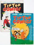 Platinum Age (1897-1937):Miscellaneous, Tip Top Comics #4 and 10 Group (United Features Syndicate/Standard, 1936-37).... (Total: 2 Comic Books)