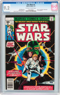 Bronze Age (1970-1979):Superhero, Star Wars #1 (Marvel, 1977) CGC NM- 9.2 Off-white to white pages....