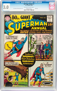 80 Page Giant #1 Superman Annual (DC, 1964) CGC GD/VG 3.0 Off-white to white pages