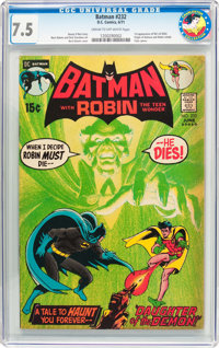 Batman #232 (DC, 1971) CGC VF- 7.5 Cream to off-white pages