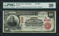 National Bank Notes:Tennessee, Morristown, TN - $10 1902 Red Seal Fr. 614 City NB Ch. # (S)8025....