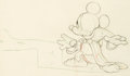 "Animation Art:Production Drawing, Fantasia ""Sorcerer's Apprentice"" Mickey Mouse AnimationDrawing (Walt Disney, 1940)...."