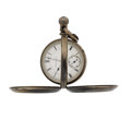 "Timepieces:Pocket (pre 1900) , Illinois 18 Size Transitional ""Muckle"" Case. ..."