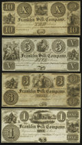 Obsoletes By State:Ohio, Franklin, OH- Franklin Silk Company $1; $3; $5; $10 18__Remainders. ... (Total: 4 notes)