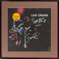 Music Memorabilia:Autographs and Signed Items, Cream Signed Live Cream Album Cover in Framed Display (AtcoSD 33-328, 1970). ...