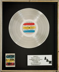 Music Memorabilia:Awards, The Police Synchronicity In-House Platinum Record SalesAward (A&M SP-3735, 1983)....