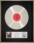 Music Memorabilia:Awards, Bruce Springsteen Born in the U.S.A. RIAA Platinum RecordSales Award (Columbia QC 38653, 1984)....