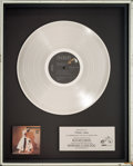 Music Memorabilia:Awards, Rick Springfield Working Class Dog In-House Platinum RecordSales Award (RCA AFL1-3697, 1981). ...