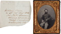 Photography:Tintypes, Exceptional ¼ Plate Tintype of William Rees, Company B, 103rdRegiment, Pennsylvania Infantry.... (Total: 2 )