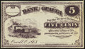 Obsoletes By State:Ohio, Orwell, OH- (C.A.B. Pratt) at Bank of Geauga 5¢ 1863. ...
