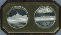 Expositions and Fairs, 1876 Centennial Exposition, Leather Case with Two Enclosed Medals....