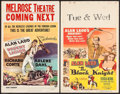 "Movie Posters:Adventure, Desert Legion & Other Lot (Universal International, 1953).Window Cards (2) (14"" X 22""). Adventure.. ... (Total: 2 Items)"