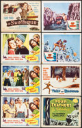 "Movie Posters:Adventure, Sinbad the Sailor & Others Lot (RKO, 1946). Lobby Cards (6),Other Company Title Lobby Card & Title Lobby Card (11"" X 14"").... (Total: 8 Items)"
