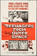 "Movie Posters:Science Fiction, Teenagers from Outer Space (Warner Brothers, 1959). One Sheet (27""X 41""). Science Fiction.. ..."