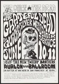 "The Grateful Dead at The Avalon Ballroom (Family Dog, 1966). Concert Poster No. 12-2 (14"" X 20"") 2nd Printing..."