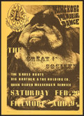"""Movie Posters:Rock and Roll, King Kong Memorial Dance with The Great Society at The FillmoreAuditorium (Family Dog, 1966). Concert Poster No. 2-2 (14"""" X..."""
