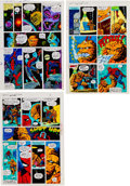 Memorabilia:Miscellaneous, Jim Starlin and Joe Rubinstein Marvel Two-in-One Annual #2 Pages 9-11 Color Guide (Marvel, 1977).... (Total: 3 Original Art)