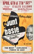 Music Memorabilia:Autographs and Signed Items, Jazz - Count Basie Autographed Concert Poster (circa 1965)....