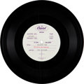 "Music Memorabilia:Recordings, Beatles ""Nowhere Man/What Goes On"" Acetate (Capitol, 1965)...."
