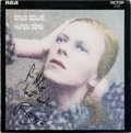 Music Memorabilia:Autographs and Signed Items, David Bowie Signed Hunky Dory Album (RCA SF 8244, 1971). ...
