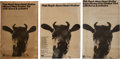 Music Memorabilia:Posters, Pink Floyd - Group of Three Atom Heart Mother Tour Posters,1970.... (Total: 3 Items)