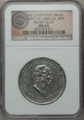 U.S. Presidents & Statesmen, 1844 Henry Clay Campaign Medal, DeWitt HC-1844-23, MS63 NGC. ...