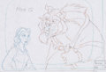Animation Art:Production Drawing, Belle's Magical World Beauty and the Beast ProductionDrawing (Walt Disney, 1998).... (Total: 2 Items)