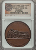 U.S. Presidents & Statesmen, 1883 General Robert E. Lee Monument Medal, MS64 Brown NGC. ...