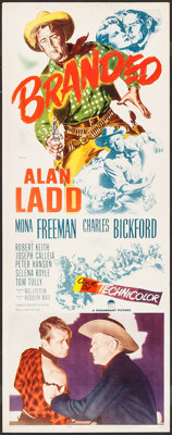 "Branded (Paramount, 1951). Insert (14"" X 36""). Western"