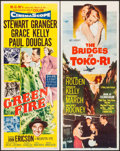 "Movie Posters:Adventure, Green Fire & Other Lot (MGM, 1954). Inserts (2) (14"" X 36"").Adventure.. ... (Total: 2 Items)"