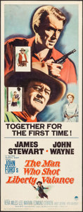 """Movie Posters:Western, The Man Who Shot Liberty Valance (Paramount, 1962). Insert (14"""" X 36""""). Western.. ..."""