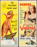 "Movie Posters:Film Noir, Screaming Mimi & Other Lot (Columbia, 1958). Inserts (2) (14"" X 36""). Film Noir.. ... (Total: 2 Items)"
