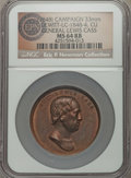 U.S. Presidents & Statesmen, (1848) General Lewis Cass Campaign Medal, DeWitt LC-1848-4, MS64Red and Brown NGC. ...