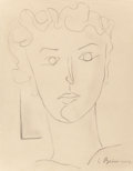 Fine Art - Work on Paper:Drawing, Constantin Brancusi (1876-1957). Untitled (Portrait of MariaTanase), circa 1938-39. Pencil on beige card. 9-3/4 x 7-1/2...