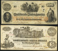Confederate Notes:Group Lots, T39 $100 1862 PF-13. T41 $100 1862 PF-16 Cr. 320. ... (Total: 2notes)