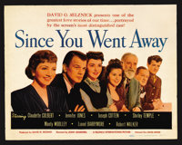 "Since You Went Away (United Artists, 1944). Title Lobby Card (11"" X 14""). Drama"
